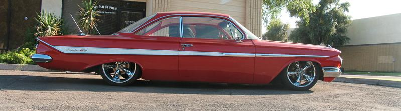 Red 61 Impala Air Ride Suspension