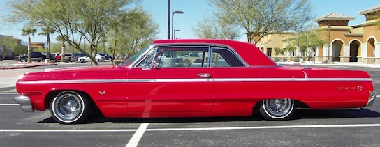 Red 64 impala air ride suspension
